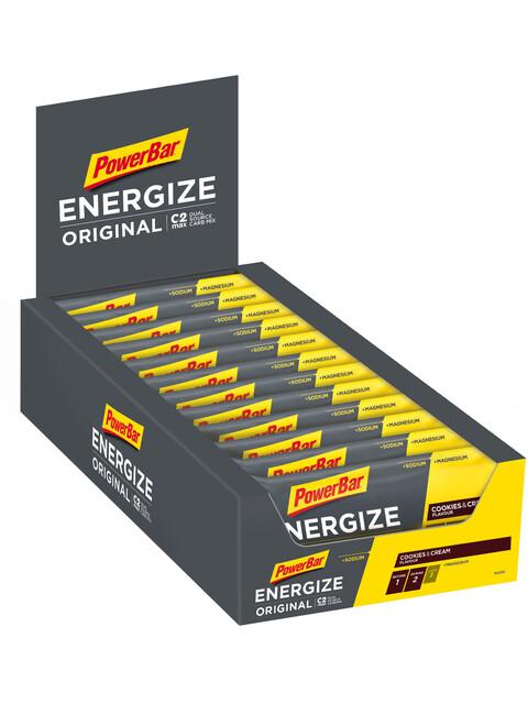 PowerBar Energize Original Riegel Box Cookies & Cream 25 x 55g